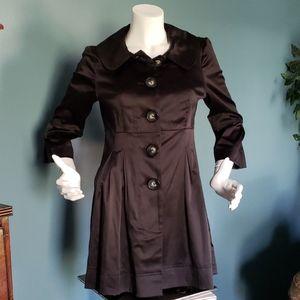 Beautiful Cotton Sateen Black Jacket Size Medium